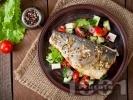 Снимка на рецепта Печен лаврак с пипер на тиган